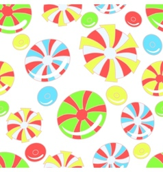 Colorful pattern with abstract candies vector image vector image