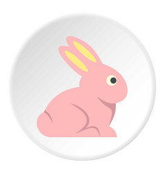 Easter bunny icon circle vector