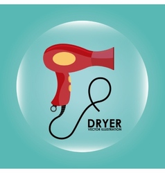 Hair dryer design vector