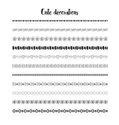 Hand drawn borders holidays decoration vector image vector image