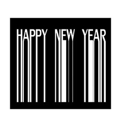Happy new year on barcode vector image vector image