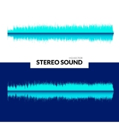 Hq sound waves music waveform background vector