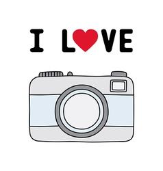 I love camera1 vector image