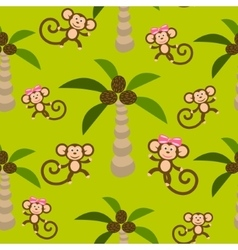 Monkey kid seamless pattern for textile vector image vector image