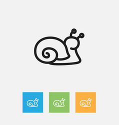 of zoo symbol on snail outline vector image vector image