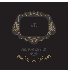 Premium Art Nouveau frame copy space for text in vector image