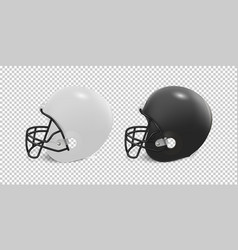 Realistic classic american football helmet set - vector
