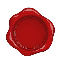 Red wax seal with highlights vector