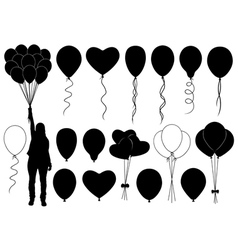 Set of different balloons vector image vector image