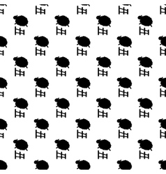 Sheep jumping pattern seamless vector