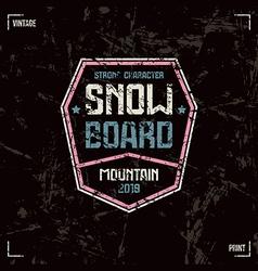 Snowboard badge vector image vector image
