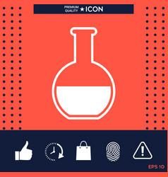 test-tube symbol icon vector image vector image