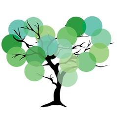 Tree color green vector