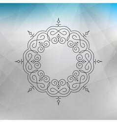 Vintage Swirl Ornament Decoration Elegant Element vector image vector image