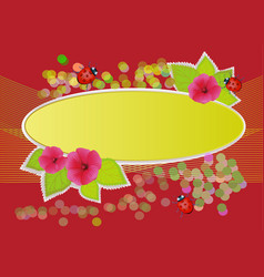 with flowers and summer beetles for books and vector image