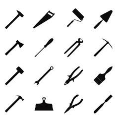 Set of construction tools vector
