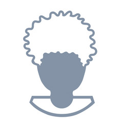 Avatar of a man head vector