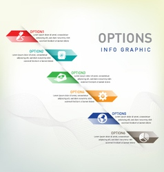 Option infographic vector