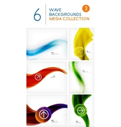Mega set of wave abstract backgrounds vector