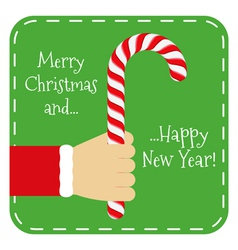 Merry Chistmas and Happy New Year vector image