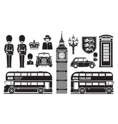 England london uk set of icons vector