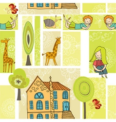 home pattern vector image