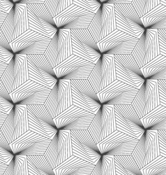 Slim gray linear stripes forming pyramids vector
