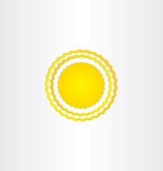 sun energy wave design vector image