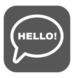 The hello icon greet and hi symbol flat vector