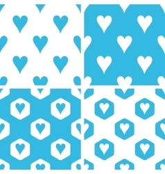 Hearts patterns set vector