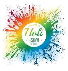 Holi festival poster vector