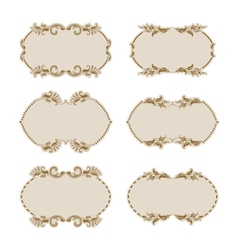 Set of ornate frames vector image