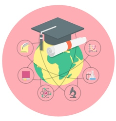Academic education concept vector