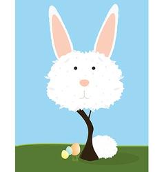 Bunny tree vector