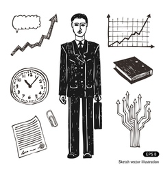 Business and finance icon set vector image vector image