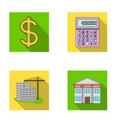 Calculator dollar sign new building real estate vector