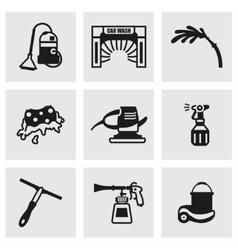 Car wash icon set vector image vector image