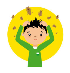 Child with lice vector