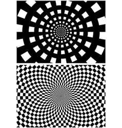 Circular Checkered Background vector image vector image