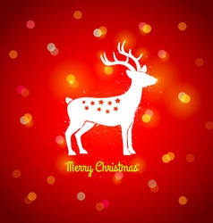 Deer and lights vector image vector image
