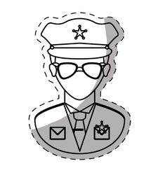 Figure police officer icon image vector