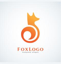 fox logo vector image
