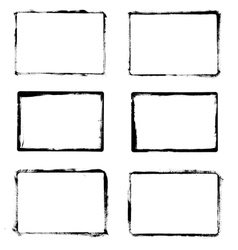 Frames drawn ink brush vector