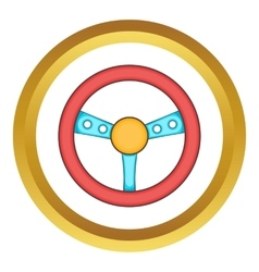 Game steering wheel icon vector