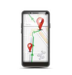 gps app concept smartphone with wireless vector image vector image