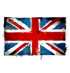 Grungy uk flag vector