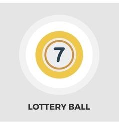 Lottery ball flat icon vector