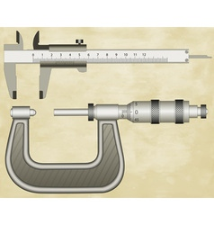Micrometer and calliper vector