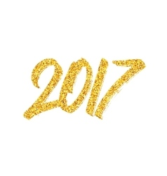 New Year 2017 greeting card with calligraphy vector image