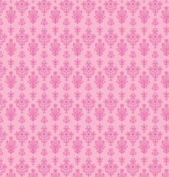 Pink seamless paisley vector